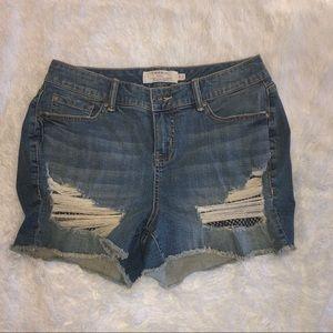 NEW Torrid Distressed Blue Jean Shorts